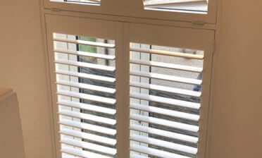 Sunburst Shaped Shutters for Landing of Home in Tunbridge Wells, Kent