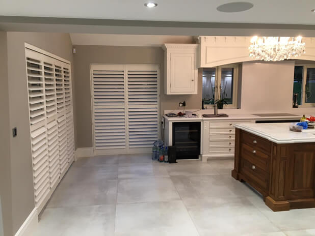 barn conversion shutters oxshott surrey kitchen