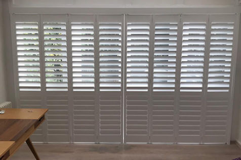 Track System Shutters for Conservatory in Warlingham village in Tandridge, Surrey