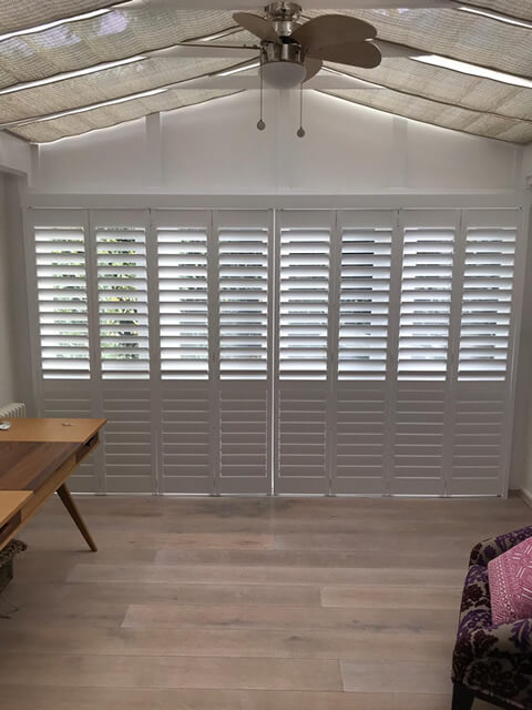 Track System Shutters For Conservatory In Warlingham