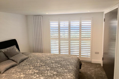 Shutters with Integrated Blinds for Windows and Doors of Home in Grinstead, Sussex