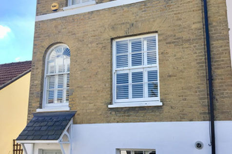 Tier on Tier and Sunburst Shaped Shutters for Property in Sidcup, Kent