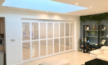 Bi-fold Track System Shutters Installed as Room Divider in Chislehurst, Bromley