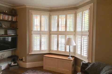 Tier on Tier Shutters for Bay Window of Property in Gravesend, Kent