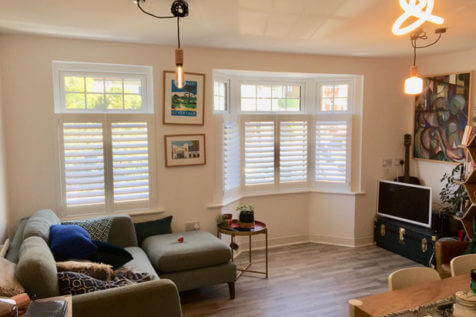 Lightweight Fiji Café Style Shutters for Home in Bromley, Kent