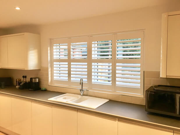 Window Shutters Installed for this Brand New Kitchen in Esher, Surrey