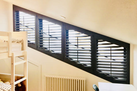 Special Shape Shutters for Childrens Bedroom in Kings Hill, Kent