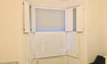 Tier on Tier Shutters for Traditional Wooden Sash Window in West Malling, Kent