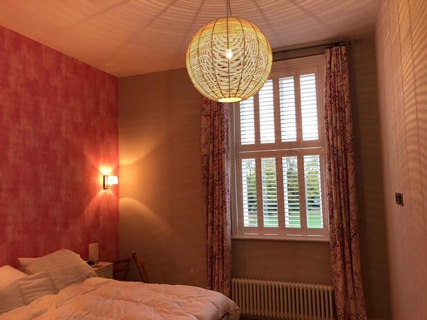 white teak bedroom shutters croydon