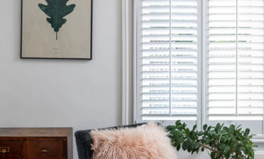 Sumatra White Teak Café Style Shutters for Home in Swanscombe, Kent
