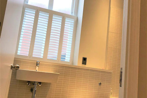 Café Style Shutters for Bathroom of Property in Dartford, Kent