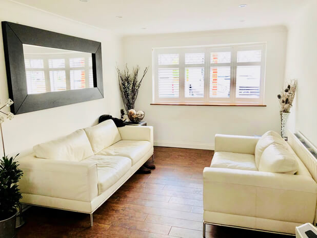 full height shutters living room redhill surrey