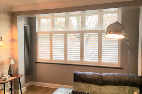 Café Style Shutters for Living Room of Property in Bromley, Kent