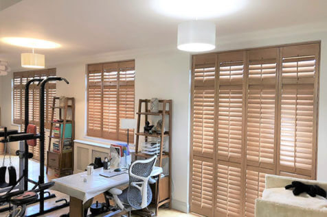 Bespoke Hardwood Shutters for Kitchen Windows and Doors in Croydon