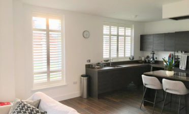Full Height Antigua Shutters for Home in Chertsey, Surrey