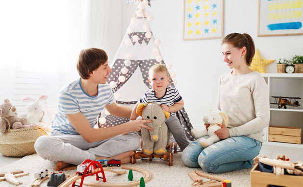 playroom with parents