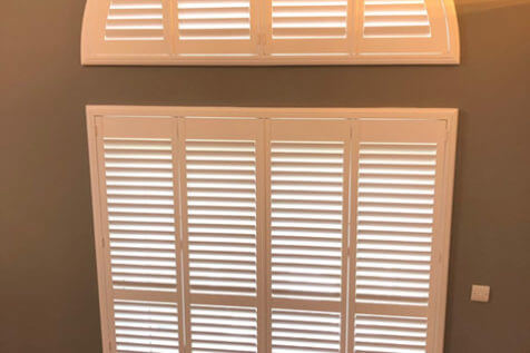 Special Shape Shutters for Large Bedroom Window in Gillingham, Kent