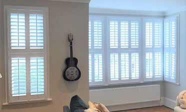 Tier on Tier Shutters for Living Room of Property in East Dulwich, London