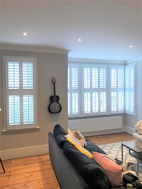 tier on tier living room shutters east dulwich 1