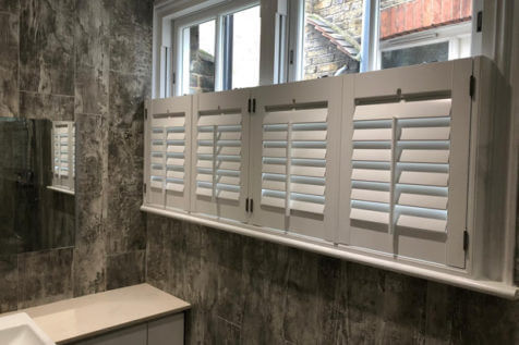 Café Style Shutters for Bathroom of Property in Biggin Hill, Kent