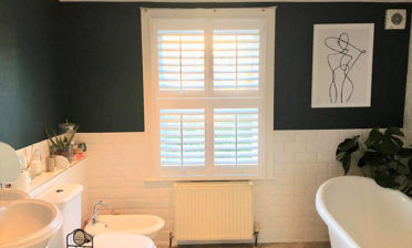 Tier on Tier Bathroom Shutters for Property in Shirley, Croydon