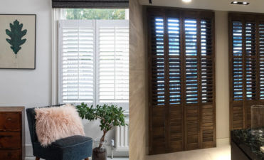 Painted vs Stained Shutter Finishes