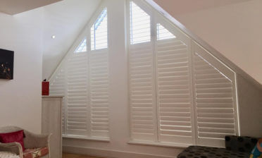 Fiji Special Shape Window Shutters for Property in Twickenham, West London
