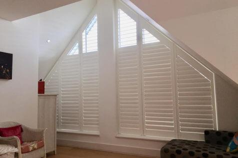 Fiji Special Shape Window Shutters for Property in Twickenham, West London