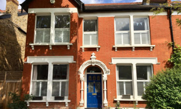 Café Style Shutters Paired with Curtains for Home in Dulwich, London