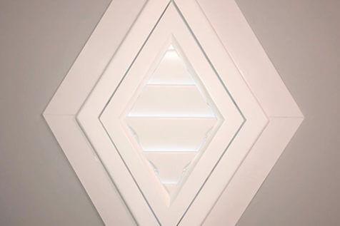 Bespoke Special Shape Shutters for Stained Glass Windows in Beckenham, Kent