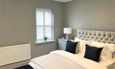 Full Height Shutters for Bedroom of Home in Esher, Surrey