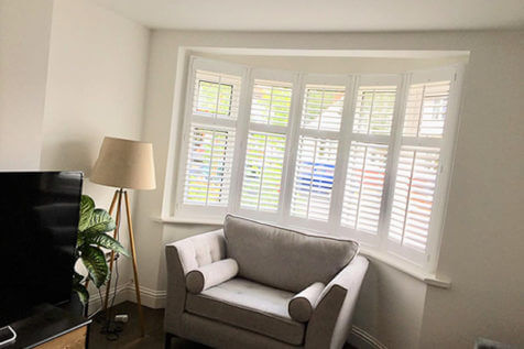 Full Height Shutters for Multiple Rooms of Home in Wallington, Surrey