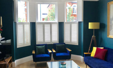 Bi-Folding Tier on Tier Shutters for Living Room in Hammersmith, London