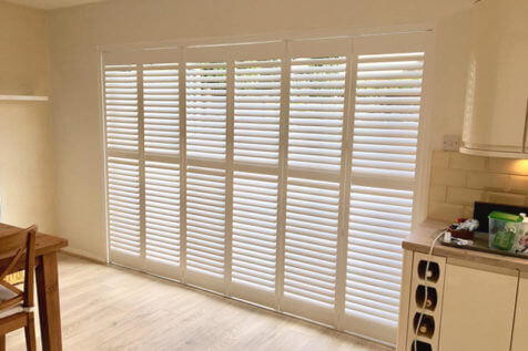 Bi-Fold Patio Door Shutters for Home in Morden, Surrey