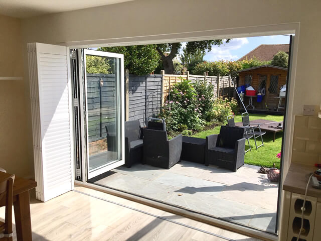 bifold patio door shutters morden surrey 2