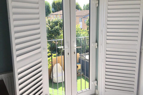 French Door Shutters for Bedroom of Property in Chelsea, London