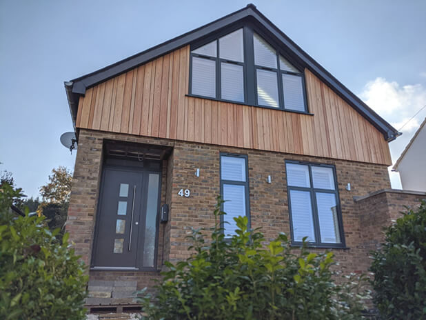 slanted top window shutters epsom surrey 1