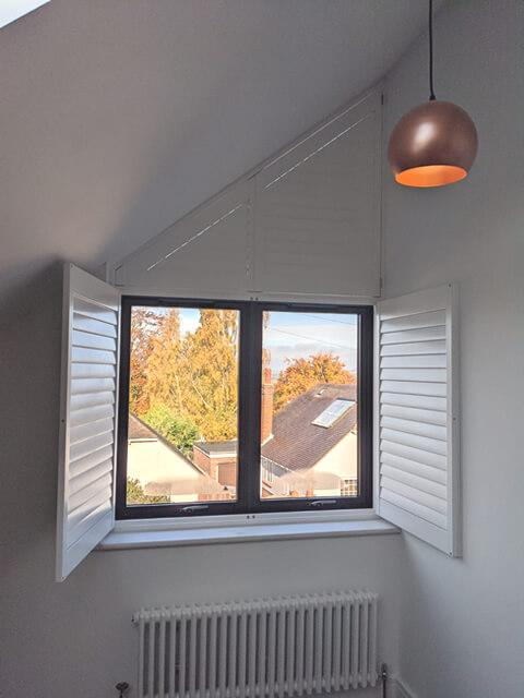 slanted top window shutters epsom surrey 2
