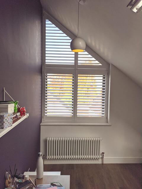 slanted top window shutters epsom surrey 4