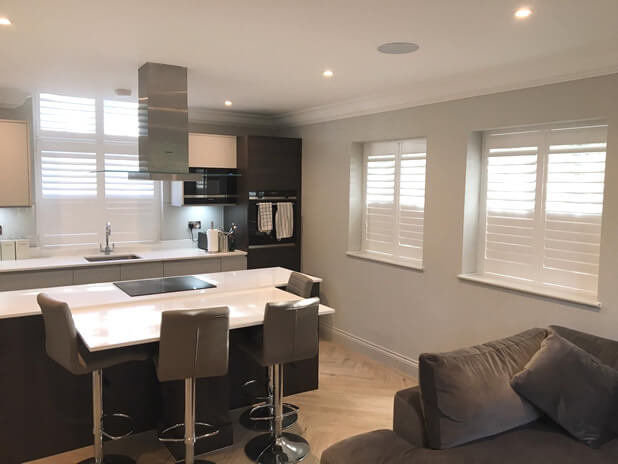 kitchen diner shutters addlestone surrey 1