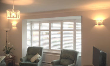 Shutters for Living Room Bay Window in Northfleet, Kent