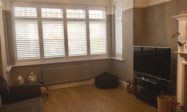 Plantation Shutters for Ground Floor Flat in Canary Wharf, London