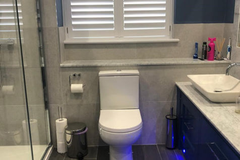 ABS Water Resistant Shutters for Bathroom of Home in East Dulwich, London
