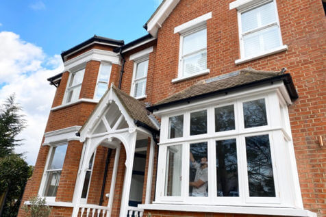 Shutters for Traditional Wooden Windows of this Property in Beckenham, Kent
