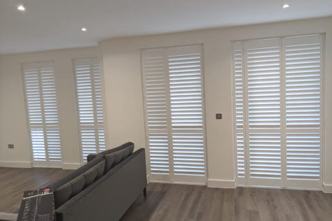 Full Height Door Shutters for New Build Apartment in Kings Hill, Tonbridge and Malling, Kent