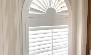 Special Shaped Shutters for Entrance Hall of Home in Streatham, Lambeth