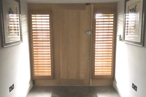 Shutters for sides of front door of Home in Maidstone, Kent