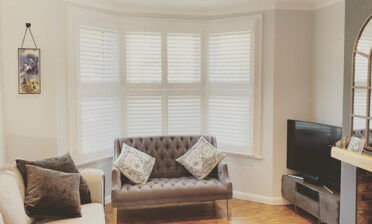 Tier on Tier Shutters for Bay Window of Property in Croydon, Surrey