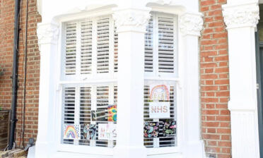 Bay Window Tier on Tier Shutters for Property in Grinstead, West Sussex