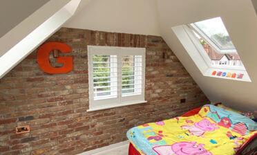 Window Shutters for Childs New Bedroom in Dartford, Kent